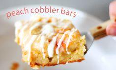 Peach cobbler bars...YUM!