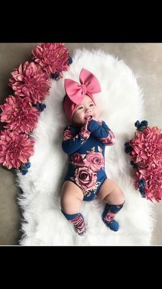 Hot Newborn Toddler Baby Girl Bodysuit One-Piece Long Sleeve O-Neck Flower Romper Jumpsuit+Leg Warmers Casual Outfit Clothes Cute Newborn Baby Girl, Cute Baby Girl Outfits, Cute Baby Clothes, My Baby Girl, Baby Girl Bows, Girls Bows, Baby Girl Head Bands, Baby Girl Clothing, Newborn Baby Girl Outfits