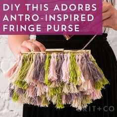 Watch this style DIY video tutorial to learn how to make a budget-friendly Anthropologie-inspired fringe purse without the high price tag.