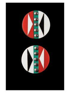 Disques d'oreilles Iziqhaza - Zoulou - Afrique du Sud / Bostwana Zulu, Afro Punk Fashion, Culture Art, Lobe, African Jewelry, Ear Plugs, African Art, South Africa, Graphic Design
