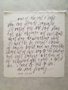 Brush calligraphy quote