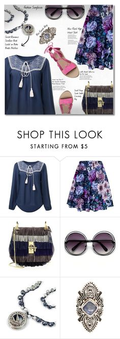 """""""17.07.16 Nice Floral High Waist Skirt"""" by shirleipatricia ❤ liked on Polyvore featuring Chloé, Loeffler Randall and Sweet Romance"""