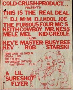 HIP HOP HISTORY! Audio- Charlie Chase and The Furious 5!!! HIP HOP HISTORY…