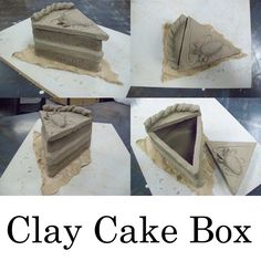 Thiebaud inspired clay lesson idea: Clay Cake Box by AirixAram Food Sculpture, Sculpture Lessons, Sculptures Céramiques, Sculpture Ideas, Clay Projects For Kids, Kids Clay, 3d Art Projects, Ceramic Boxes, Ceramic Clay