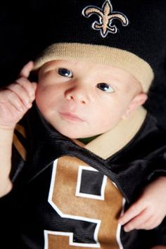 Even my nephew knows the Saints are #1. (Photo courtesy of Blair Bennett Photography)