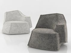 Upholstered armchair AIRBERG Airberg Collection by Offecct | design Jean-Marie Massaud