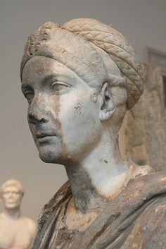Marble portrait bust of the Empress Sabina Roman,Hadrianic period,ca AD 122-128