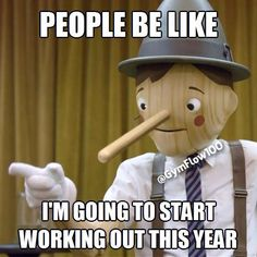 People be like. I'm going to start working out this year LOL Humour Fitness, Gym Humour, Workout Humor, Fitness Quotes, Funny Fitness, Gym Fitness, Health Fitness, Tech House, Nfl Memes