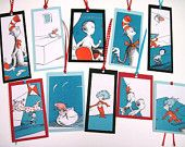 CAT in the HAT- Recycled Dr. Seuss BOOKMARKS