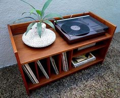 **SOLD**Mid century Danish modern teak record media cabinet console, perfect to store vintage stereo components and LPs. The small footprint would be great for small LA space. Record Player Furniture, Record Player Cabinet, Vinyl Record Storage, Lp Storage, Book Racks, Apartment Furniture, Office Furniture, Furniture Decor, Classic Furniture