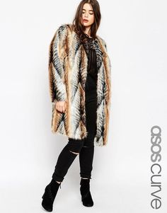 How to combine plus size casual outfits with a faux fur coat