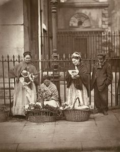 Covent Garden, London.... Flower sellers. The real Eliza Doolittle :)