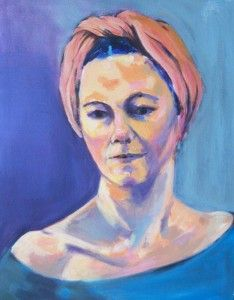"""The orange headscarf"" by Glen Cheesman"