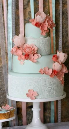 love the colours, flowers and lace