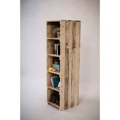 Raft din lemn Recycled Wood Furniture, Rafting, Tall Cabinet Storage, Recycling, Shelves, Home Decor, Shelving, Decoration Home, Room Decor