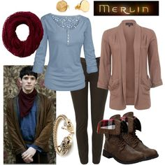 """""""Merlin"""" by fandom-wardrobes on Polyvore. I love Merlin! & I love this. Get in my closet!"""