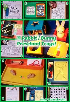 It doesn't need to be Easter to learn with bunnies - enjoy our 11 Rabbit Preschool Trays! Classroom Tools, Preschool Classroom, Tot Trays, 5 Year Olds, Bunnies, Rabbit, Easter, Posts, Teaching
