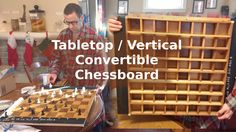 Tabletop / Vertical Convertible Chessboard