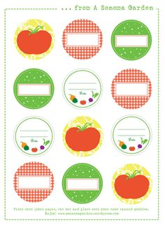 Printable canning lid label download