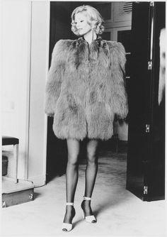 1971 - Yves Saint Laurent green fox coat