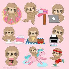 Animal Drawings, Art Drawings, Sloth Cartoon, Pretty Drawings, Cute Sloth, Atc Cards, Ticks, Custom Art, Spirit Animal