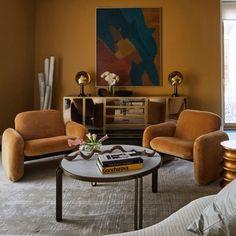"New apt in Moscow. Rare vintage ""Chiclet"" #LoungeChair by #RayWilkes for #HermanMiller, 1976, upholstered in @schumacher1889 velvet. • #malyevainteriors #americanstyle #chic #luxe #luxurystyle #luxurydecor #luxuryhome #luxuryliving #design #homedesign #designer #style #homestyle #instahome #instastyle #modern #moderndesign #interiorlovers #vintage #midcenturymodern #interiordesign #brightcolors #DesignAndDecoration #MidCenturyModernFurniture"