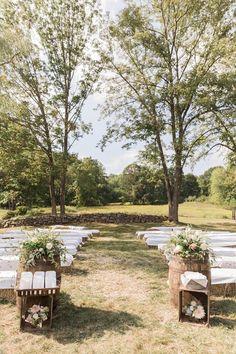Pretty rustic farm venue: http://www.stylemepretty.com/2016/04/18/a-rustic-wedding-at-the-grooms-family-farm/ | Photography: Elena Wolfe - http://elenawolfe.com/