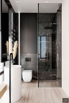 Space Saving Toilet Design for Small Bathroom - polat kos Bathroom Design Luxury, Bathroom Layout, Modern Bathroom Design, Modern House Design, Home Interior Design, Bathroom Ideas, Modern Toilet Design, Interior Design Toilet, Small Toilet Design