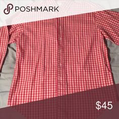 Red/white button up-brooks brothers- Never worn! Brooks Brothers Shirts Dress Shirts
