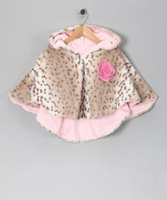 Pink Leopard Luxe Poncho - Infant, Toddler & Girls