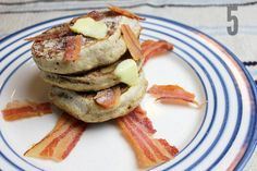 Bacon Pikelets #food #foodporn #bacon