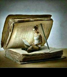 Arte do saber I Love Books, My Books, Reading Art, Reading Books, World Of Books, Book Nooks, Altered Books, Book Crafts, Belle Photo
