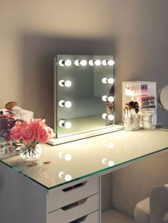 Table Top Hollywood Mirror, Makeup Vanity Mirrors with Lights - Illuminated Mirrors Hollywood Makeup Mirror, Makeup Vanity Mirror With Lights, Hollywood Mirror With Lights, Dressing Room Mirror, Dressing Room Design, Dressing Area, Dressing Table Hollywood Mirror, Venetian Mirrors, Makeup Vanities