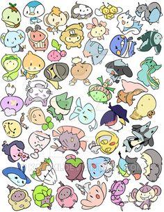 Sinnoh Pokemon Stickers by Kaiami.deviantart.com on @DeviantArt