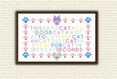Funny Cat Cross Stitch Pattern PDF Cat Riddle read without