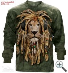 This olive green tie dye tee features a Rasta lion. The lion has rasta color beaded dreads and headphones. 3d T Shirts, Tie Dye T Shirts, T Shirts For Women, Biker, Rasta Lion, Steampunk, Lion Shirt, Big Face, Green Tie