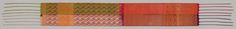 Cleveland Museum of Art Bridal Wedding Sash, 1800s Morocco, Fez, 19th century woven; lampas: a combination of 2 weaves, 2/1 twill (z) and 1/2 twill (z); chine (warps dyed probably on the loom), Overall - h:396.80 w:38.00 cm (h:156 3/16 w:14 15/16 inches). John L. Severance Fund 1999.253