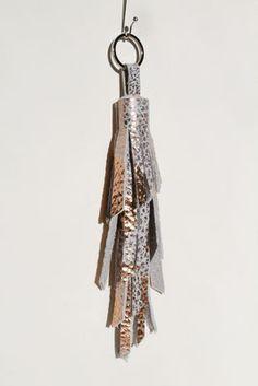 beautiful leather quaste #copper #kupfer #leather #accessories