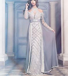 Arabic Style Caftan Gowns Lace Beaded Elegant Wedding Prom Dress Free Shipping