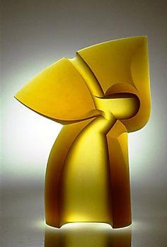 Latchezar Boyadjiev - Contemporary Abstract Glass Sculptures - Venture [awesomeness -lit from BELOW ! KS]