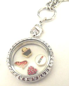Girlie Stuff Cute Floating Charm Locket with by littlepieceofmyart, $35.00