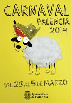 Palencia. Cartel Carnaval 2014. Carnaval Kids, Carnival, Snoopy, Graphic Design, Poster, Fictional Characters, Graphics, Stuff Stuff, World