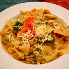 Hearty beef and spinach pasta