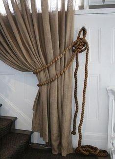 КАНАТ В ДЕКОРЕ ИНТЕРЬЕРА. Канатная веревка в декоре штор