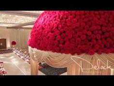 Roshni & Palak Red Rose Mandap Indian Wedding Decoration by Yanni Design...