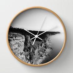 Where sea meets land Wall Clock by Nicklas Gustafsson - $30.00