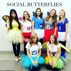 Pin for Later: 15 Last-Minute Costume Ideas For Your Squad Social Butterflies