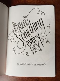 Lettering Lately: New sketchbooks are good things