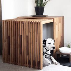 """Dog house: Practical, comfortable and stylish houses for the dog - Hundehütte: Praktische, bequeme und stylische Häuser für den Hund The """"Stockholm"""" hut is available in three different sizes. (All pictures: PD) Small Puppies, Small Dogs, Luxury Dog Kennels, Dog Crate Furniture, Diy Dog Crate, Cool Dog Houses, Sleeping Dogs, Animal House, Pet Dogs"""