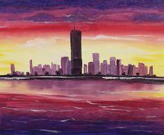"""For Sale: New York Dreamer  by Martha Seale   $100   20""""w 16""""h   Original Art   https://www.vangoart.co/marthasealeart/new-york-dreamer @VangoArt"""